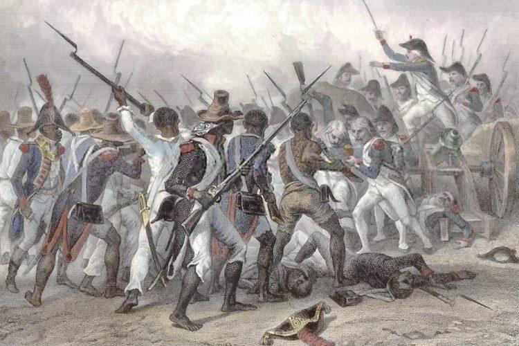 Batalla de Vertières, 18 de noviembre de 1803. Último enfrentamiento de envergadura durante la Revolución haitiana. Los esclavos liberados vencieron a las fuerzas expedicionarias de Napoleón Bonaparte.